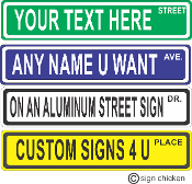 Personalized Mini Street Sign