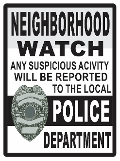 Neighborhood Watch Black w/ Shield