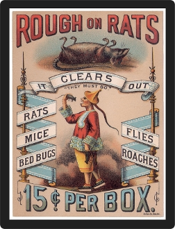 Replica Vintage Advertisement Rough on Rats