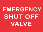 Emergency Shut Off Valve - Red