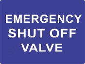Emergency Shut Off Valve - Blue