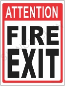 Attention Fire Exit