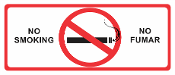No Smoking Sign - English / Spanish