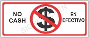 No Cash Sign - English / Spanish