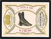 Vintage Advertisement Replica - Boot And Shoe Co.