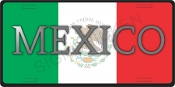 Mexico Flag License Plate -