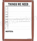 Things We Need Wipe Off List