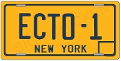 Ghost Buster Ecto 1 Yellow License plate