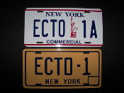 Ghost Buster Ecto 1 License Plate Set
