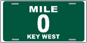 Key West - Mile 0  License Plate