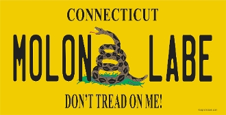 Molon Labe / Don't Tread On Me CUSTOM STATE LICENSE PLATE