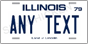 Illinois - State License Plate -  CUSTOMIZE THIS PLATE!
