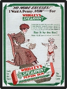 Old Chewing Gum Ad, Wrigley's -  Vintage Advertisement Replica