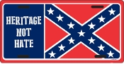 Heritage Not Hate License plate