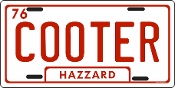 Cooter / Auto or Truck License Plate