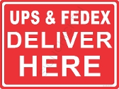 Ups FedEx Delivery Here