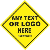 "Caution Sign 12"" x 12"" Aluminum CUSTOMIZE THIS SIGN!"