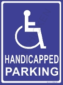 Handicapped Parking -Blue
