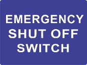 Emergency Shut Off Switch - Blue