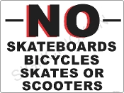 No Skateboards Skates Bicycles & Scooters