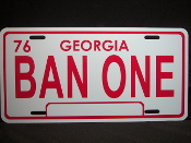 Smokey And The Bandit License Plate