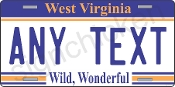 West Virginia License Plate CUSTOMIZE THIS PLATE