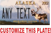 Alaska Wildlife License Plate CUSTOMIZE THIS PLATE!