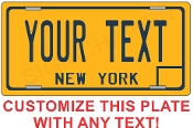 New York VINTAGE State License Plate -  CUSTOMIZE THIS PLATE!