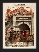 Vintage Advertisement Replica - Old Train Tunnel