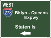 Interstate 278  Brooklyn Queens Express Way