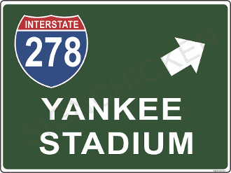 Interstate 278  Yankee Stadium Right
