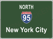 Interstate 95 North New York City