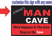 Personalized Man Cave Sign / CUSTOMIZE THIS SIGN!