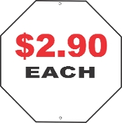 12 x 12 Stop Sign Blanks - 30 Pieces