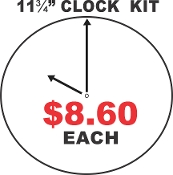 "11.75""  CIRCLE CLOCK KIT  / Aluminum Sublimation  - 1 Piece"