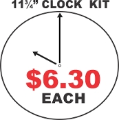 "11.75""  CIRCLE CLOCK KIT  / Aluminum Sublimation  - 30 Pieces"