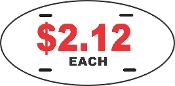 "7"" x 12"" OVAL LICENSE PLATES - 30 Pieces"
