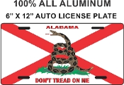 Alabama  - DON'T TREAD ON ME - License Plate