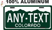 Colorado - State License Plate -  Green Style