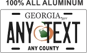 Georgia  -  State License Plate -  CUSTOMIZE THIS PLATE!