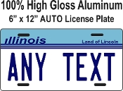Illinois-  State License Plate -  CUSTOMIZE THIS PLATE!