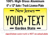 New Jersey -  State License Plate -  CUSTOMIZE THIS PLATE!