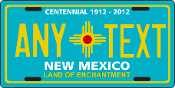 New Mexico - CENTENNIAL - License Plate