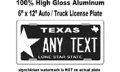 Texas Star -  State License Plate -  CUSTOMIZE THIS PLATE!