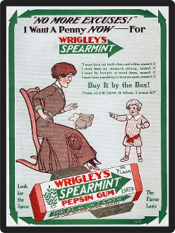 Old Chewing Gum Ad Wrigleys