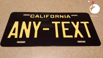 "California Old School License Plate - 6"" x 12"" Auto"