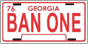 Ban One  / Smokey and the Bandit License Plate