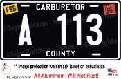 "Tow Mater's A-113 License plate from Pixar's ""Cars"""