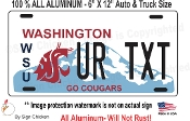 Washington State License Plate, WSU