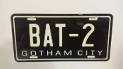 BAT-2  Batman, Batmobile, Gotham City, License plate